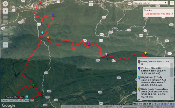 Course map cloudsplitter